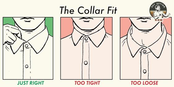 Colarinho de camisa ideal