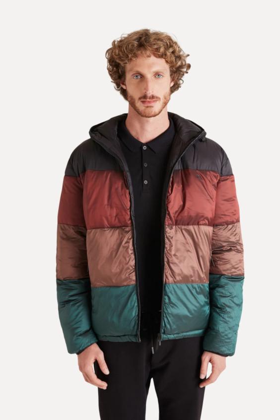 Tendências do Outono Inverno Masculino 2021 - jequetas puffer tricolores
