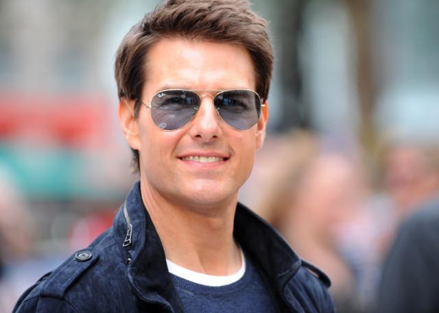Tom Cruise com Ray-Ban Aviador