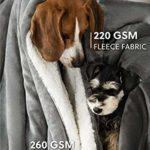Bedsure Plaid Couverture Polaire Sherpa Gris 150x200cm – Couverture de Lit Réversible Double Face Douce et Chaude Plaid Jeté de Canapé Flanelle