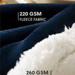 Bedsure Plaid 150×200 cm Couverture Polaire Sherpa Bleu Marine – Couverture de Lit Réversible Double Face Douce et Chaude Plaid Jeté de Canapé Flanelle