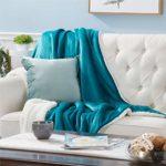 Bedsure Plaid Couverture Polaire Sherpa Turquoise 150x200cm – Couverture de Lit Réversible Double Face Douce et Chaude Plaid Jeté de Canapé Flanelle