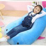 Chaises POUF for enfants Lazy Sofa Chaise sol résistant à la chaleur anti-encrassement Salle d'extérieur adapté à la lecture Canapé d'angle AAA (Couleur: Bleu) (Color : Blue)