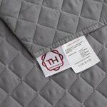 textil-home Housse de canapé Malu, Protection rembourrée pour canapé d'angle Gauche. Taille -240cm. Couleur Grey (VU of Face)