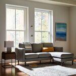 Marque Amazon –Rivet Revolve – Canapé d'angle moderne réversible à méridienne, largeur 203cm, Gris tissé