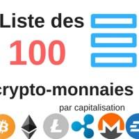 Liste des crypto-monnaies