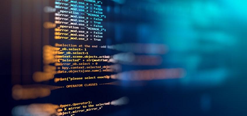 Pantalla de ordenador con líneas de código