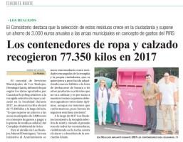Reciclaje textil y solidaridad con el contenedor Rosa a favor de Ámate.