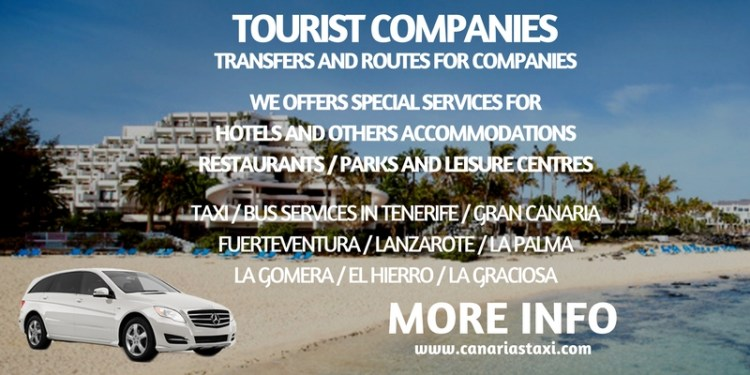 Services for Tourist Companies in Canarias Taxi