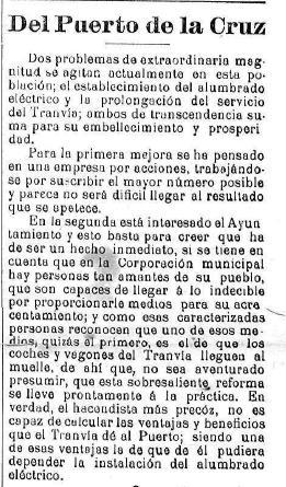 1909-09-22 Propuesta tranvía llevará electricidad