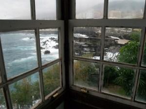 Vista desde el balcón hacia el Infierno.