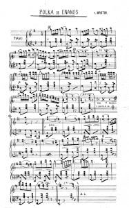 1892 Partitura de la Polka de los enanos