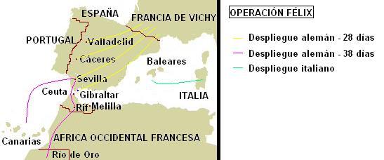 Operación Félix. Ordenes de combate.