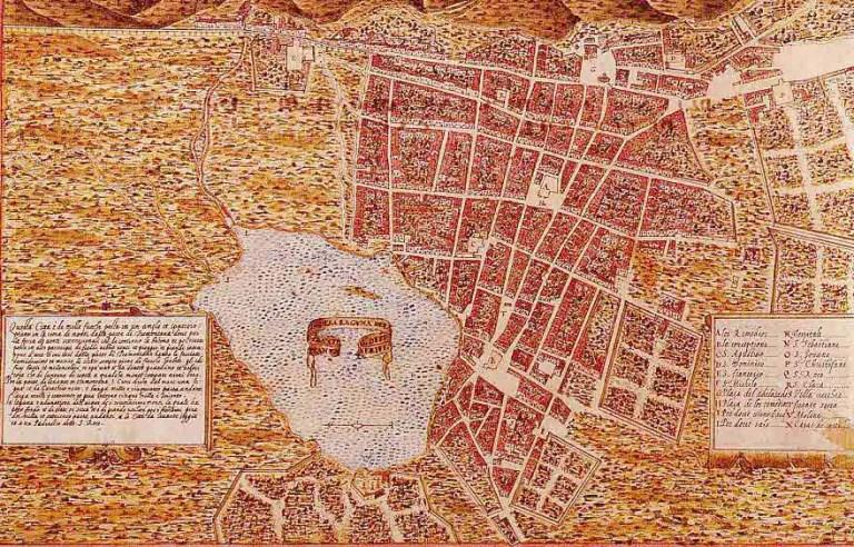 1588 Plano de San Cristobal de La Laguna de Torriani