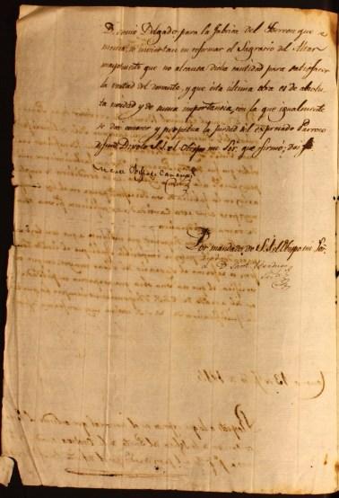 Continuación y firma de la resolución.