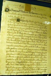 Detalle de la página 1 de la Carta puebla
