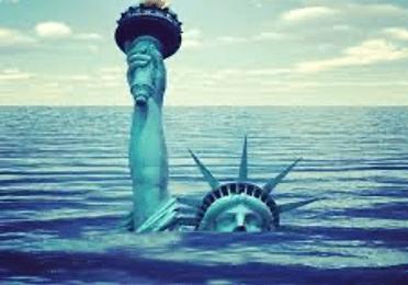 Sinking statute of liberty