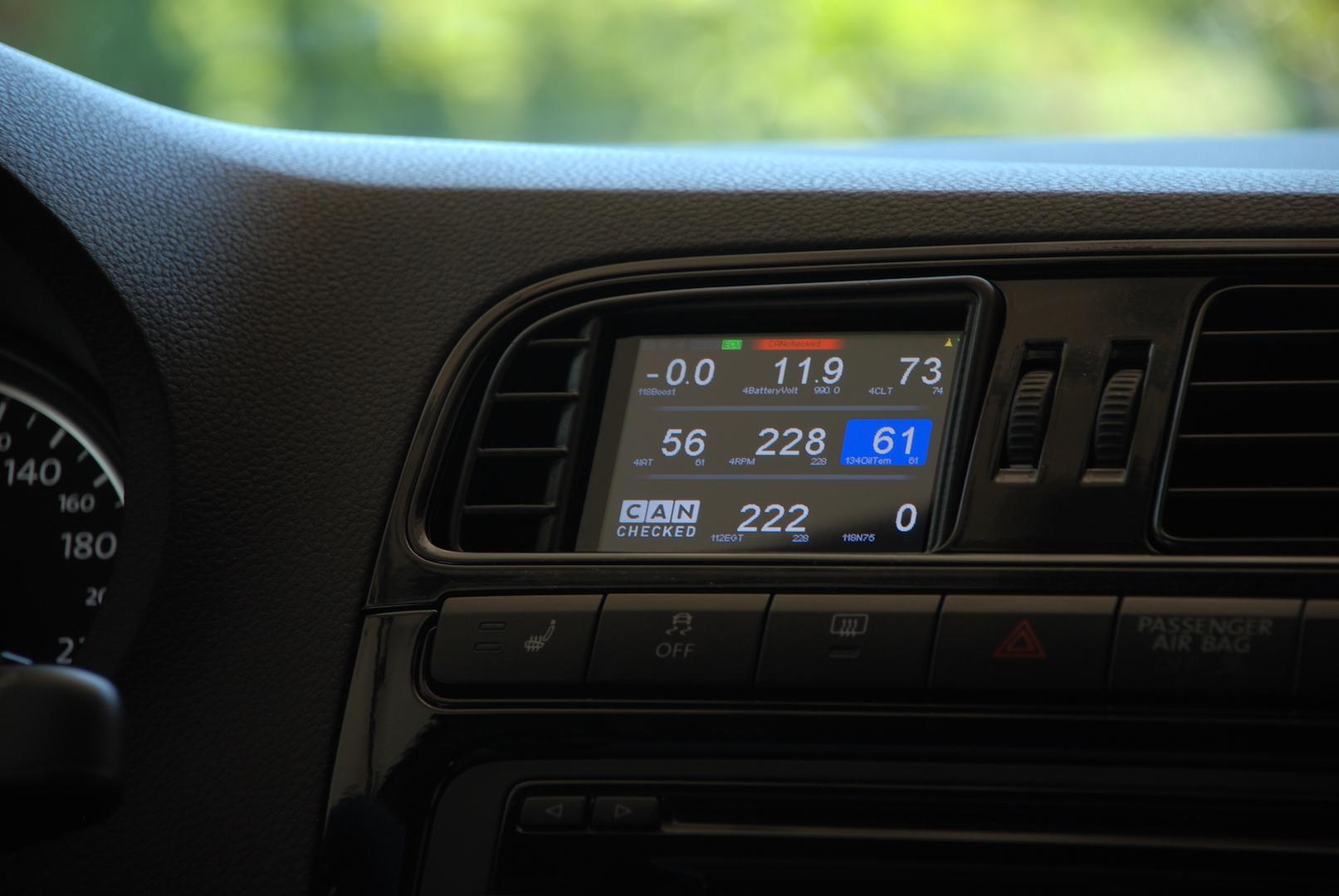 Golf MK7 GTI R TCR display