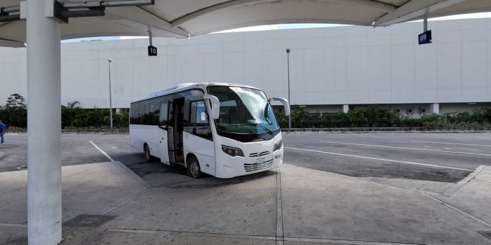 airport bus area
