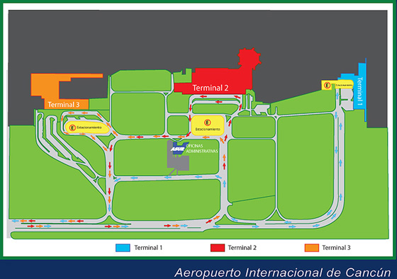 Cancun Airport Map | Get around the airport easily | Cancun