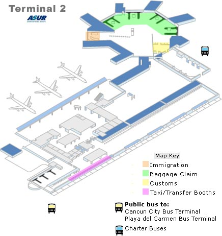 Map Of Cancun Airport Cancun Airport Map | Get around the airport easily | Cancun