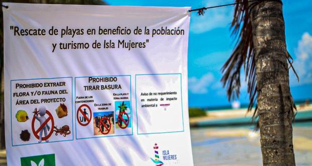 Gobierno de Isla Mujeres trabaja en mantener la belleza natural de sus playas - Cancún Mio