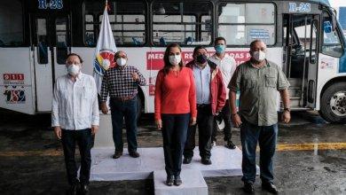 Photo of Supervisan aplicación de protocolos sanitarios en transporte público de Cancún