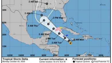 Photo of Vigilan trayecto de la tormenta tropical Delta en el mar caribe