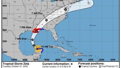 Photo of Tormenta Tropical 'Zeta'  por salir de la Península de Yucatán