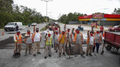 Photo of Implementan bacheo en vialidades afectadas por huracanes en Cozumel