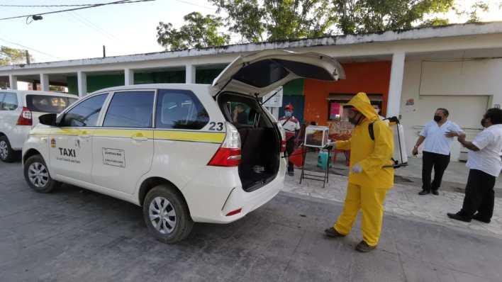 sanitización unidades Puerto Morelos