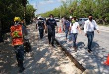 Photo of Supervisan construcción de banquetas y guarniciones en Puerto Morelos