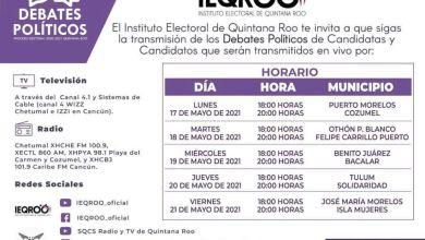 Photo of Conoce los horarios de los debates en Quintana Roo