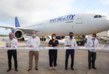 Photo of Reciben a la nueva ruta aérea Madrid-Cancún