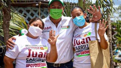 Photo of Pide @juancarrillo58 respetar sana distancia durante votaciones