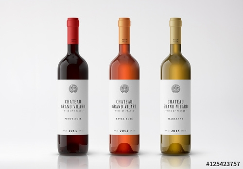 3 wine bottle mockups 1 buy this stock template and explore similar