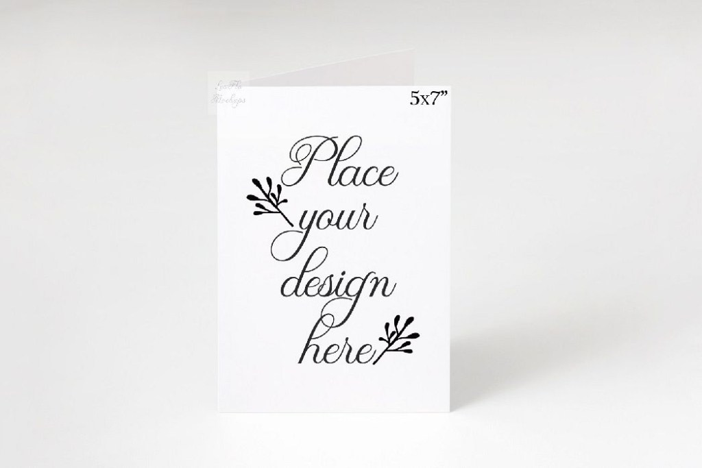 5x7 greeting card invitation mockup vertical smart psd