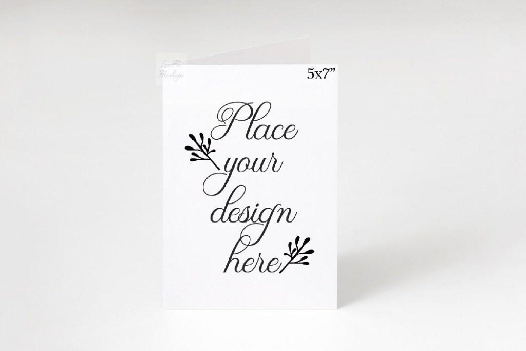 5x7 greeting card invitation mockup vertical smart psd