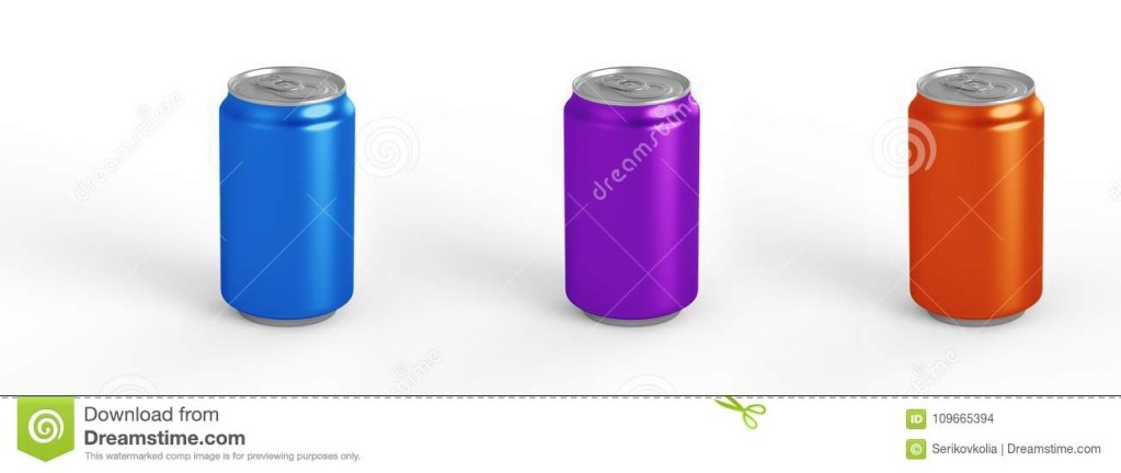 aluminum can mockup isolated on background 330ml aluminum tin soda