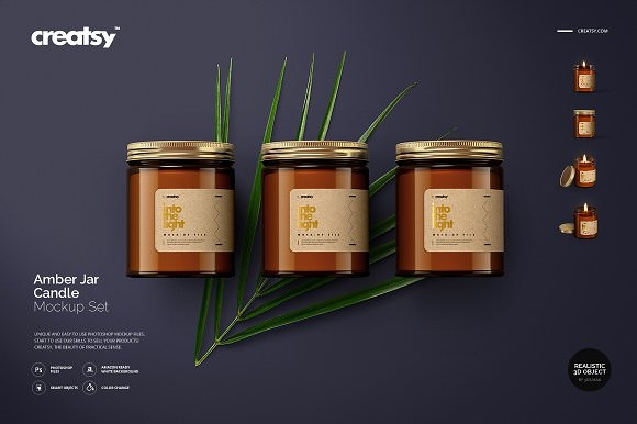 amber jar candle mockup set 2405116 heroturko download