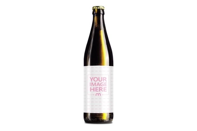 beer bottle label online mockup template mediamodifier