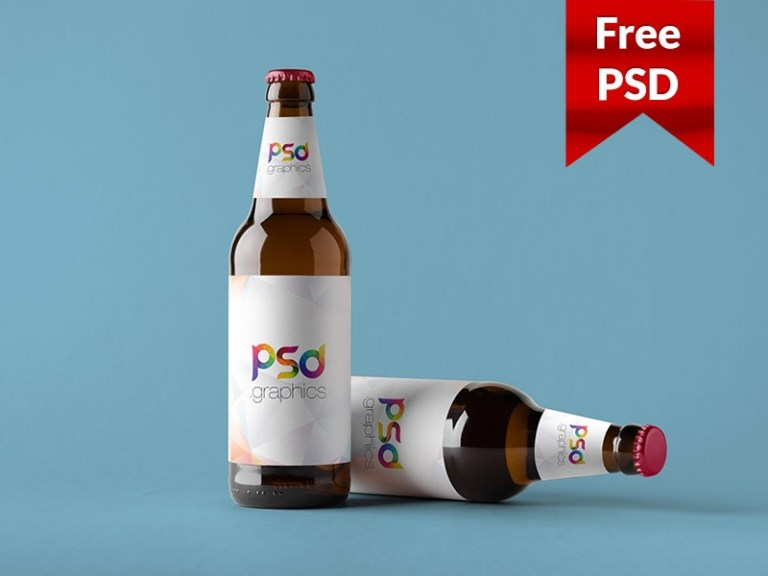 beer bottle mockup free psd psd graphics on dribbble