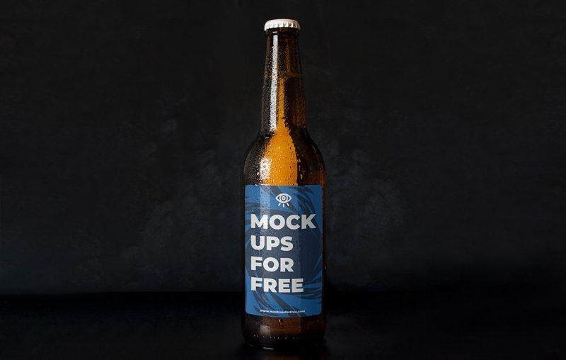 beer bottle mockup mockups for free