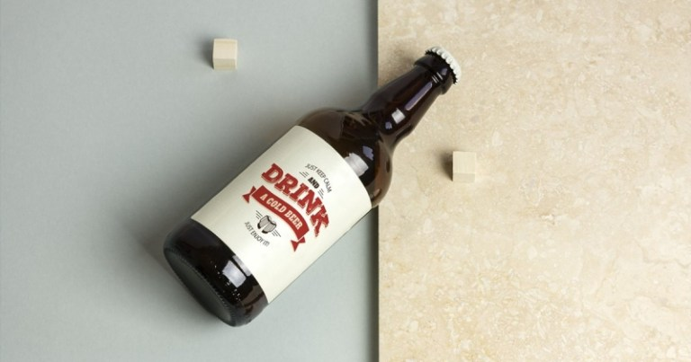 beer bottle mockup real scenes makiplace