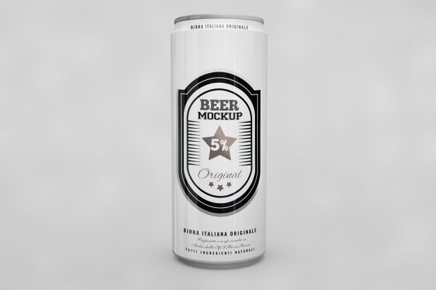 beer can mock up psd file free download