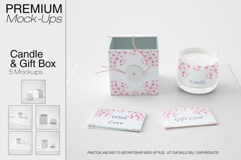 candle and gift box mockup candle mockup candle in a glass etsy