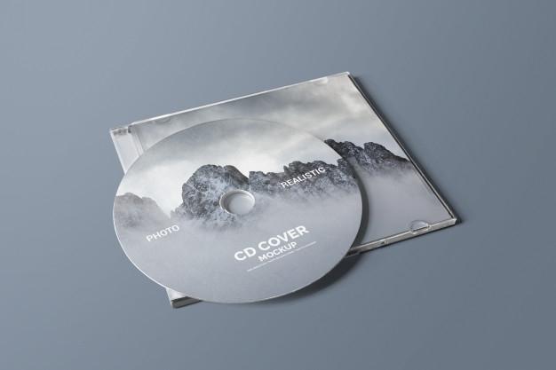 cd dvd cover mockup psd file premium download