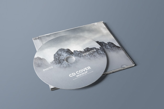 cd dvd cover mockup psd file premium download