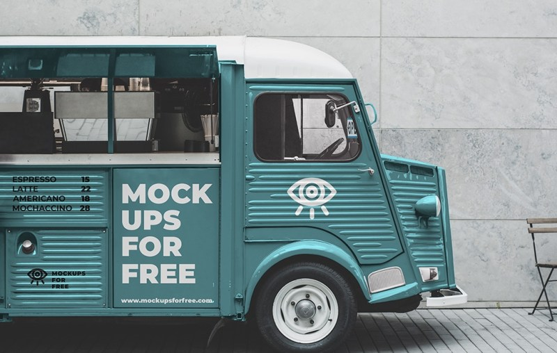 coffee bus mockup mockups for free
