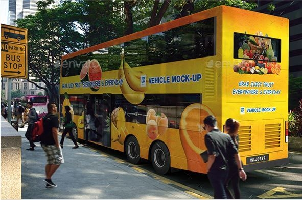 double decker public bus mockup mockuphut home of mockups